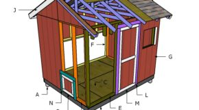 8×10 Chicken Coop Roof Plans