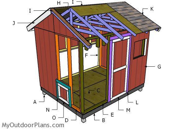 8x10 chicken coop roof plans myoutdoorplans free for Chicken coop for 8 10 chickens