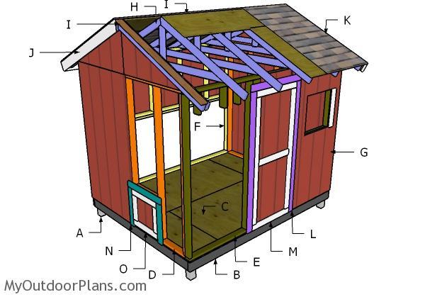8x10 Chicken Coop Roof Plans