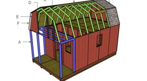 Gambrel Small Cabin Roof Plans