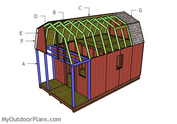 Building A Small Gambrel Cabin Roof