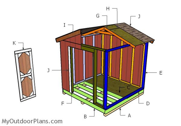 8x8 Small Shed Roof Plans