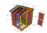 6×8 Ice House Roof Plans
