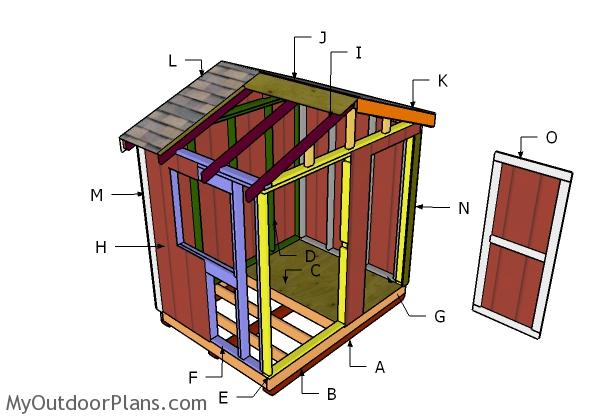 6x8 Ice House Roof Plans