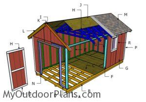 Building an outdoor storage shed