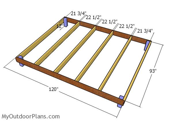 Building the chicken coop floor frame