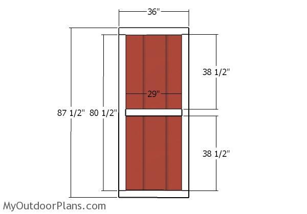 Building the double doors