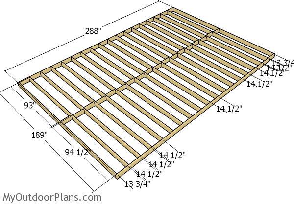 16x24 Shed Plans | MyOutdoorPlans
