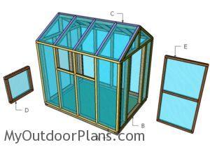 Building the greenhouse doors