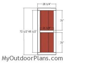 Building the large door