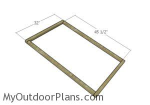 Building the lid frame