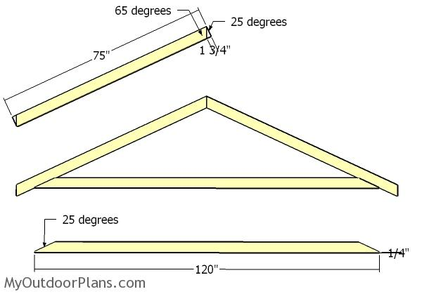 10x14 Gable Shed Roof Plans | MyOutdoorPlans | Free ...