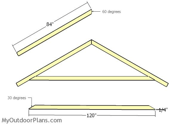 10x20 Gable Shed Roof Plans Myoutdoorplans Free Woodworking Plans And Projects Diy Shed Wooden Playhouse Pergola Bbq