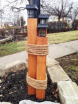 DIY Nautical Lantern Post