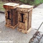 DIY Tall Pallet Planter Boxes