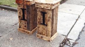 DIY Tall Pallet Planter Boxes