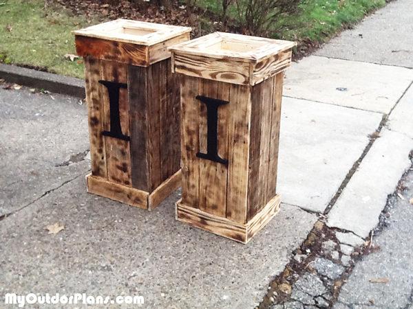 DIY Tall Pallet Planter Boxes MyOutdoorPlans Free