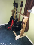 DIY Wood Multi Guitar Stand
