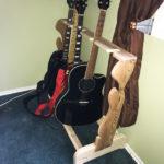 DIY Wood Multi Guitar Stand