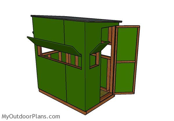 Deer blind plans 4x6 myoutdoorplans free woodworking for Diy deer stand plans