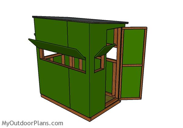 Deer Blind Plans 4x6 | MyOutdoorPlans