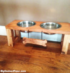 DIY Raised Doggie Feeder
