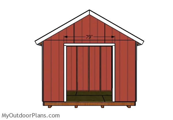 12x8 double doors and trims plans myoutdoorplans free for Double door shed plans