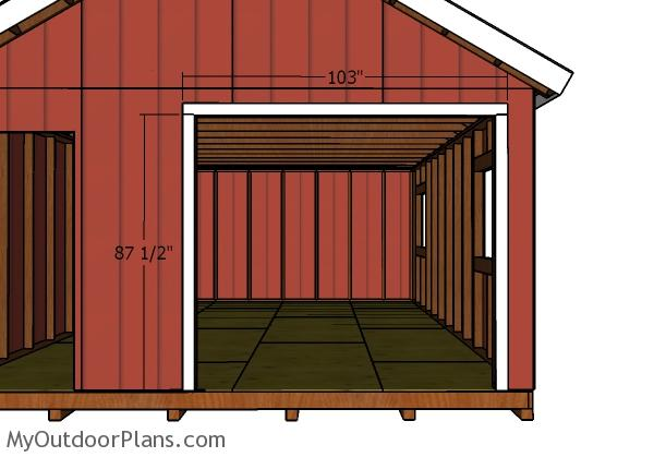 Diy double doors for a 16x24 shed myoutdoorplans free for Double door shed plans