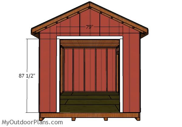 10x14 double shed door plans myoutdoorplans free for Double door shed plans