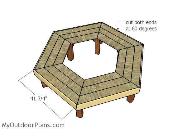Fitting the bench trims