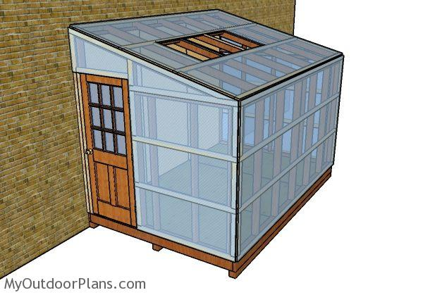 Attached Greenhouse Plans   MyOutdoorPlans   Free Woodworking Plans and Projects, DIY Shed, Wooden Playhouse, Pergola, Bbq