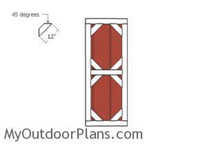 Fitting the door diagonal trims