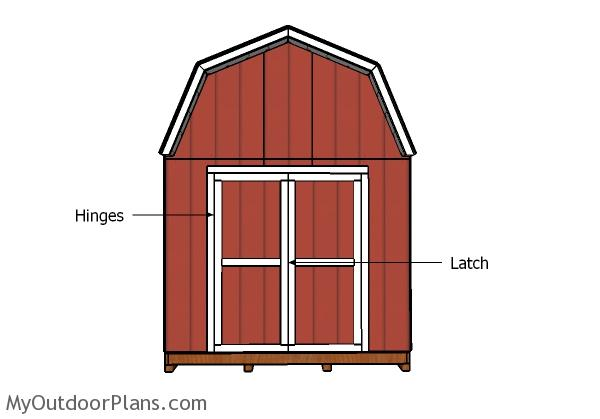 10x12 Shed Double Doors and Trims