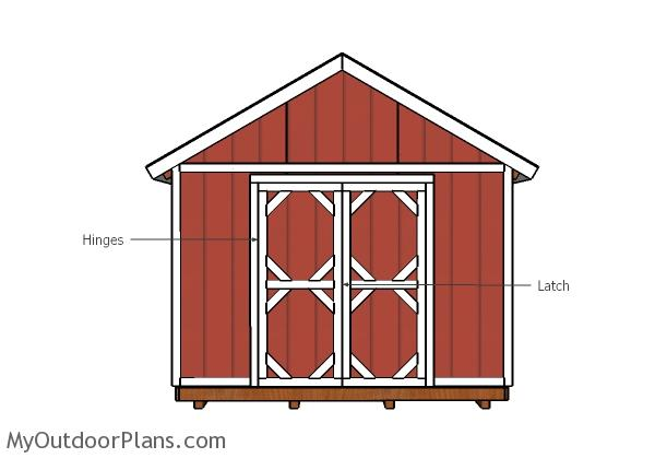 12x8 Double Doors and Trims Plans