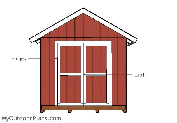Outdoor storage shed double doors plans myoutdoorplans for Double door shed plans