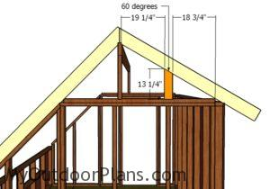 Fitting the gable end supports