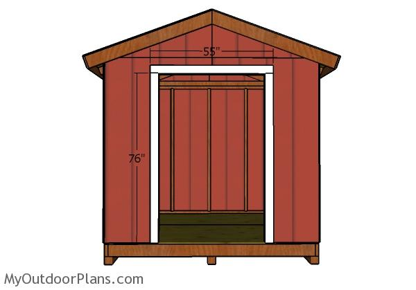 DIY Shed Double Door Plans. Fitting The Jambs