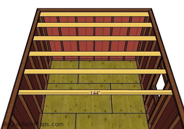 Fitting the loft joists
