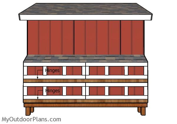 Large Chicken Coop Nesting Boxes Plans