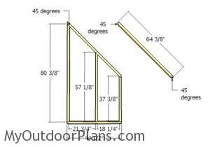 Front and back wall - Frame