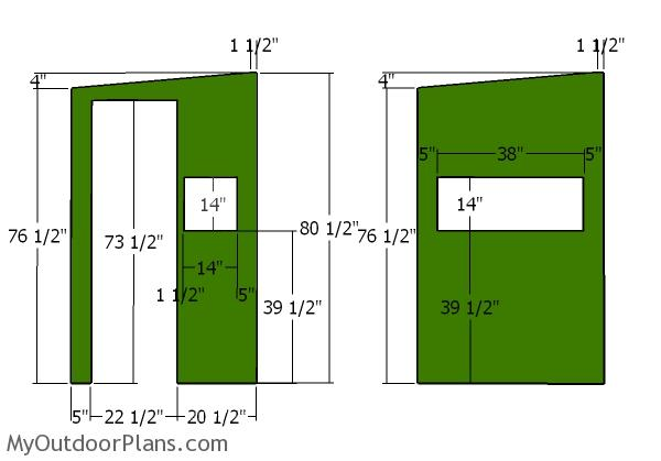 Front and back wall panels