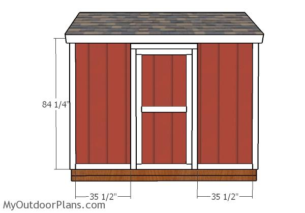 6x10 Shed Door and Trims Plans