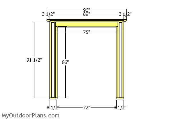Front wall - Frame