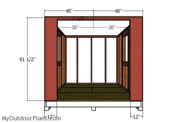 Front wall - Siding