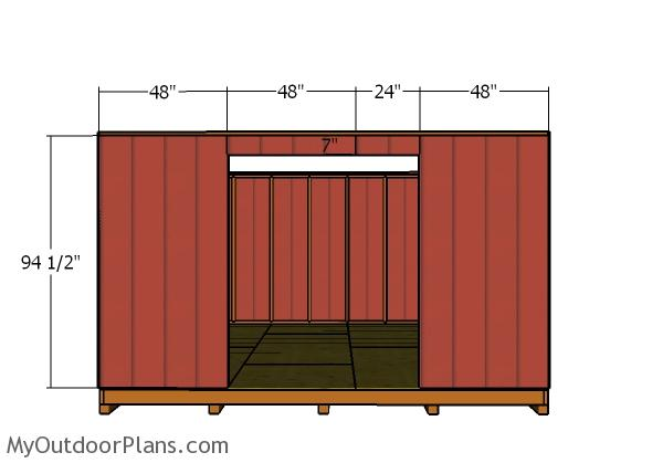 Front wall - Siding
