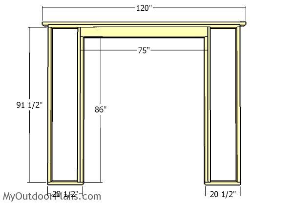 Front wall siding