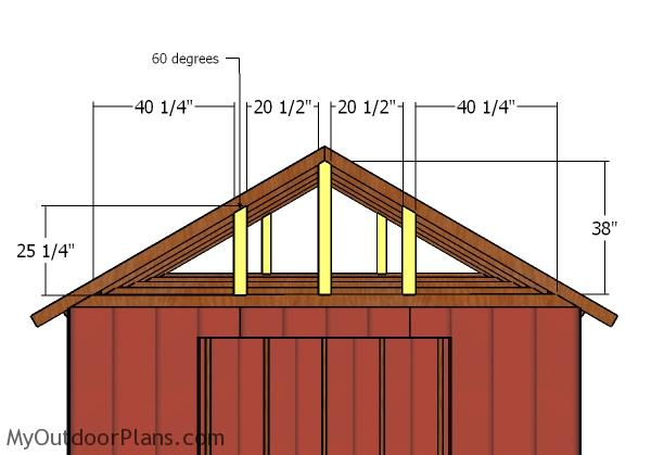 Gable end suports