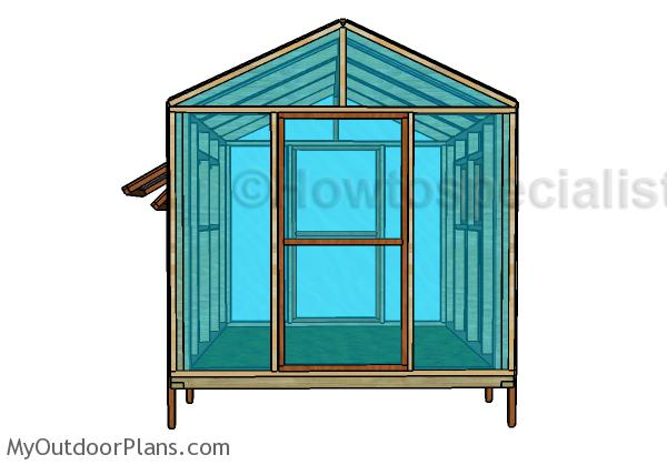 Greenhouse Plans Free - Front View