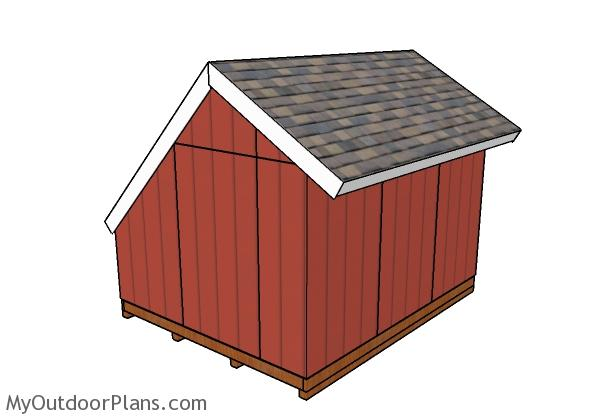 Greenhouse Shed Plans - Back view