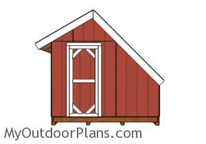 Greenhouse Shed Plans - Front view